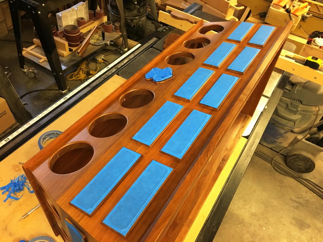 Refinishing a Walnut base-002-masking-off.jpg