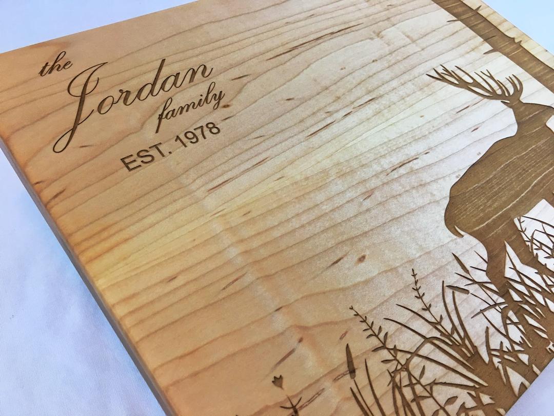 Laser etched cutting board-003-deer-meadow-tree.jpg