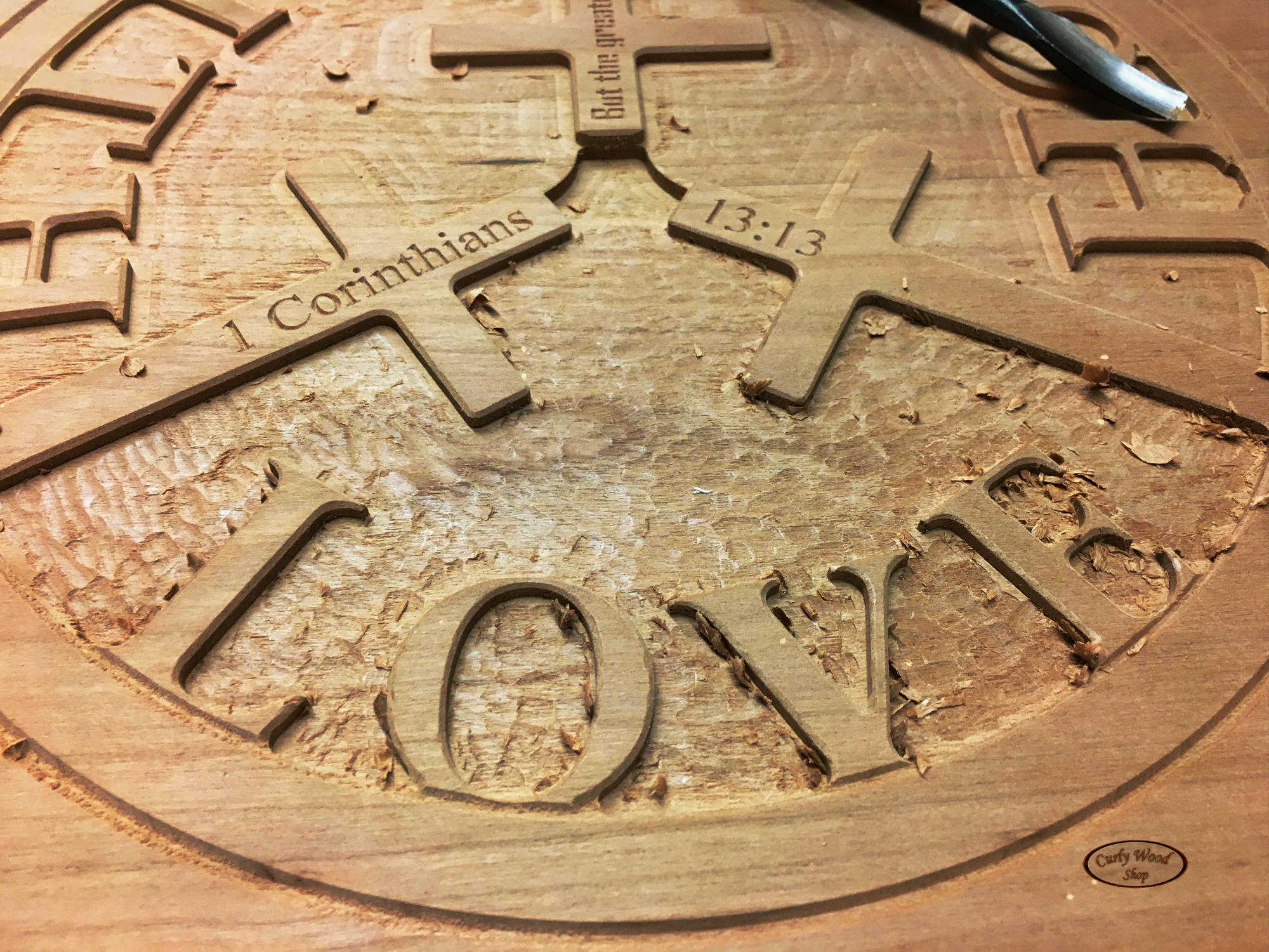 Cherry plaque for a friend-008-faith-plaque-beginning-carving.jpg