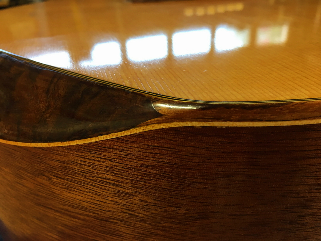 1st acoustic guitar build-032-arm-bevel-zebrawood-junction-detail.jpg