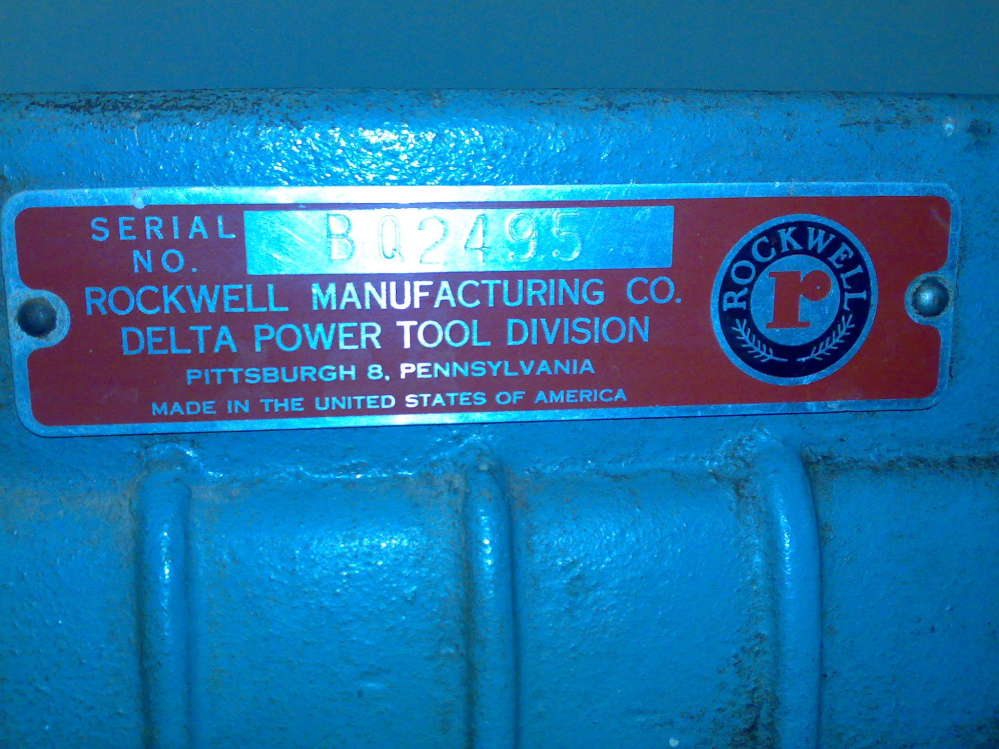 Delta Rockwell Scroll saw 40 – 110 Photos - Router Forums