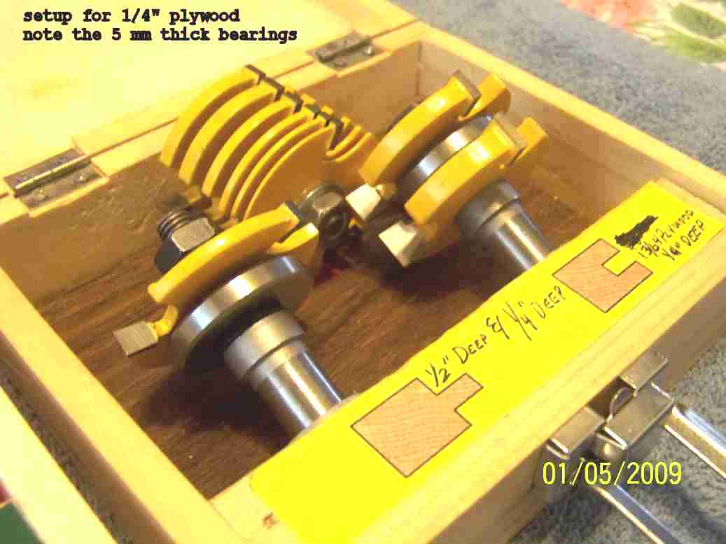 Varying Depth Of Freud Tongue Amp Groove Bits Router Forums