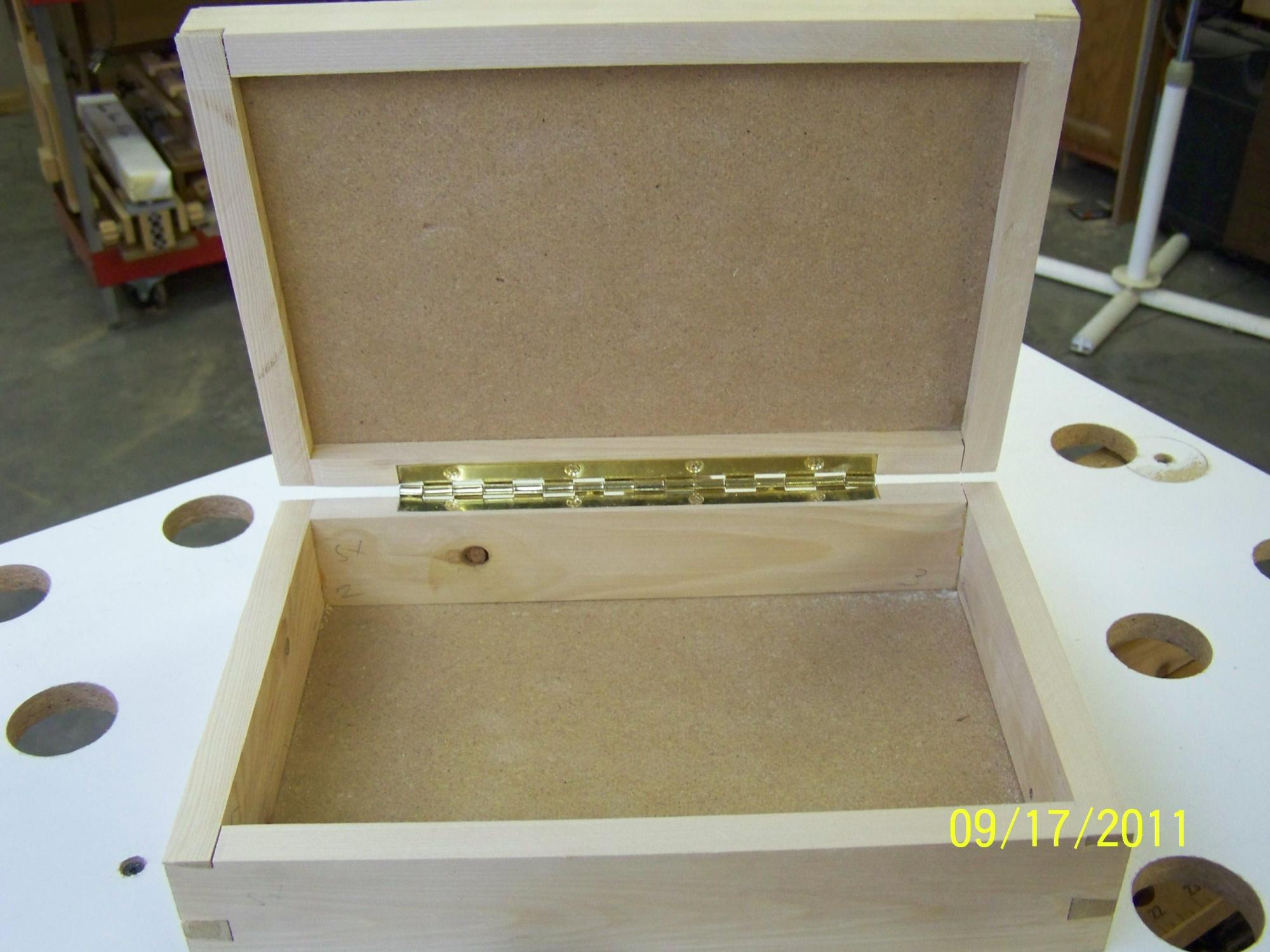Attaching Hinges To A Jewelry Box Router Forums