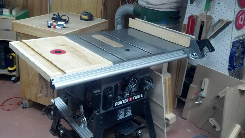 Table Saw Extension Wing Router Table W Shop Built Lift Router Forums