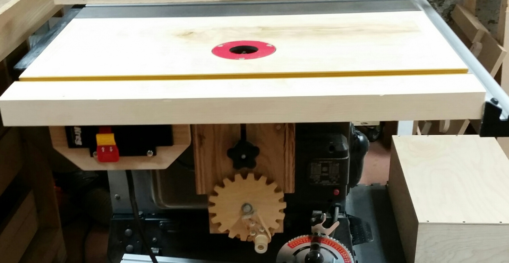 Table saw extension wing router table wshop built lift router forums click image for larger version name 2014 10 29 211138 keyboard keysfo Choice Image