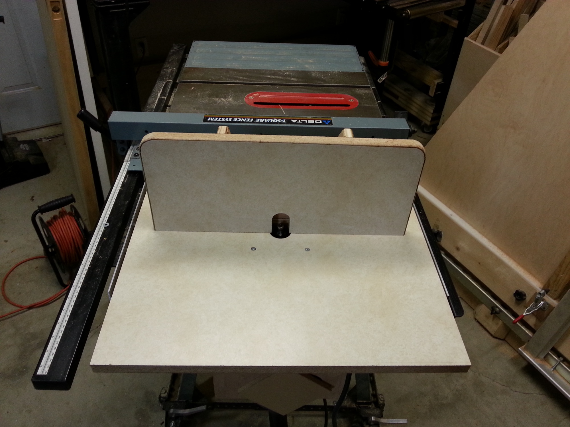 Add Router Table With Dust Collector To Your Table Saw