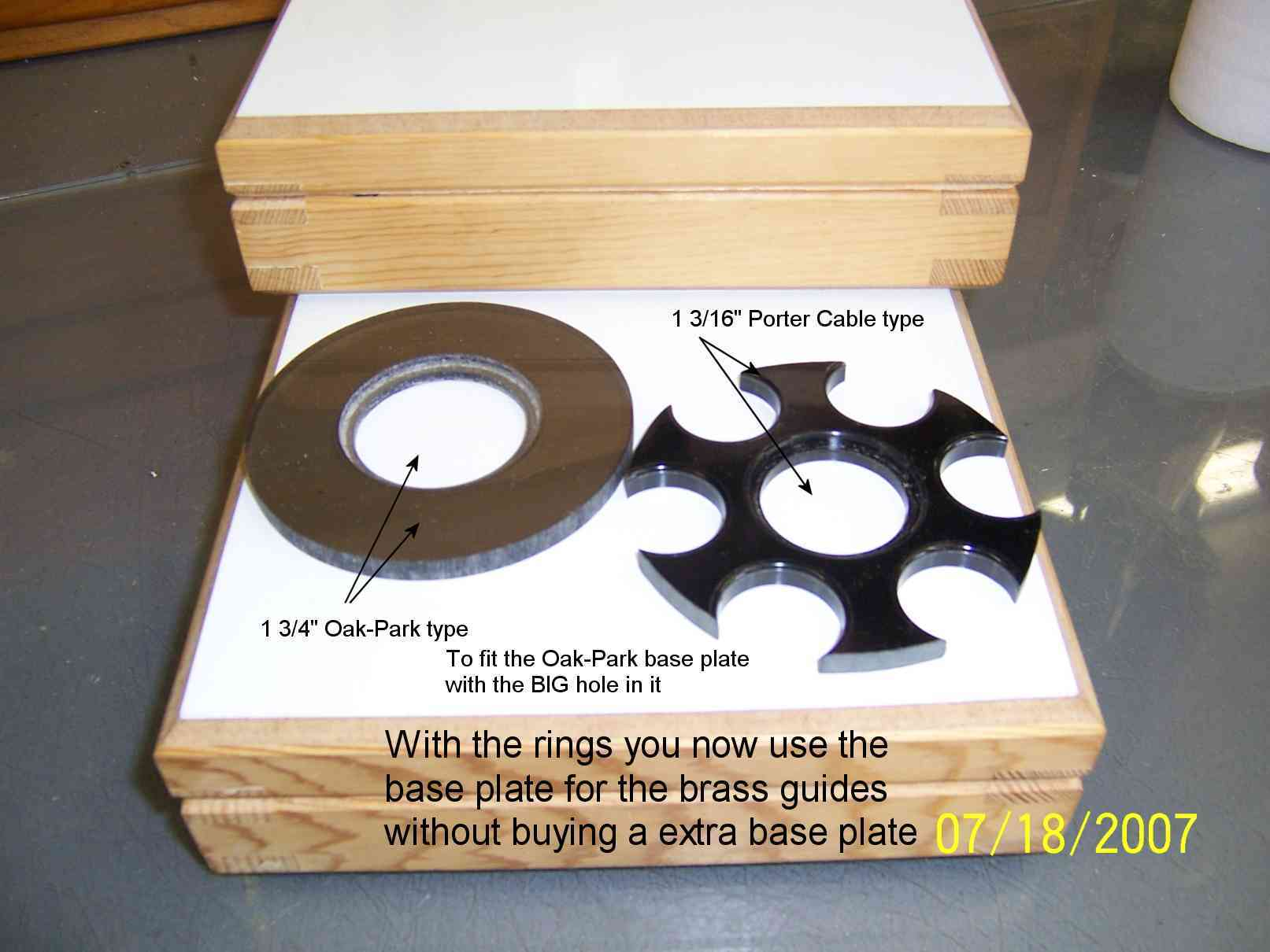 40mm Guides for Templates more Router Forums