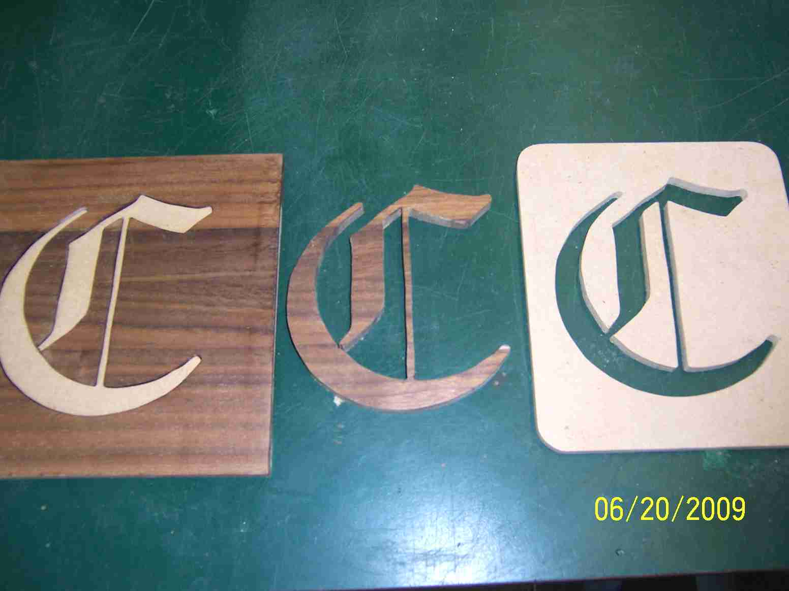 Inlaid lettering router forums click image for larger version name 8505g views 750 size 552 maxwellsz