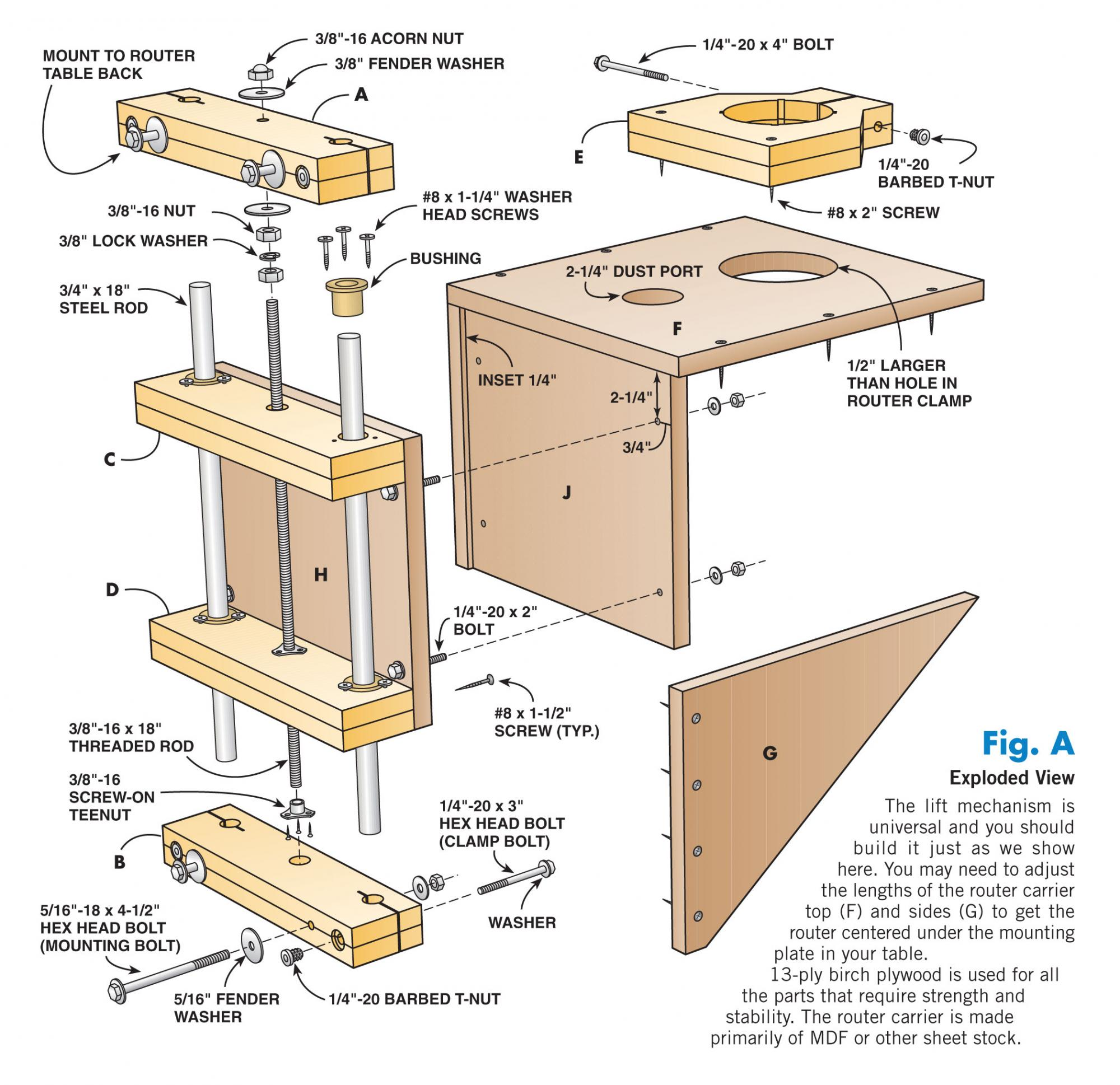 Shop made router lift router forums click image for larger version name american woodworker router lift plang views keyboard keysfo Images