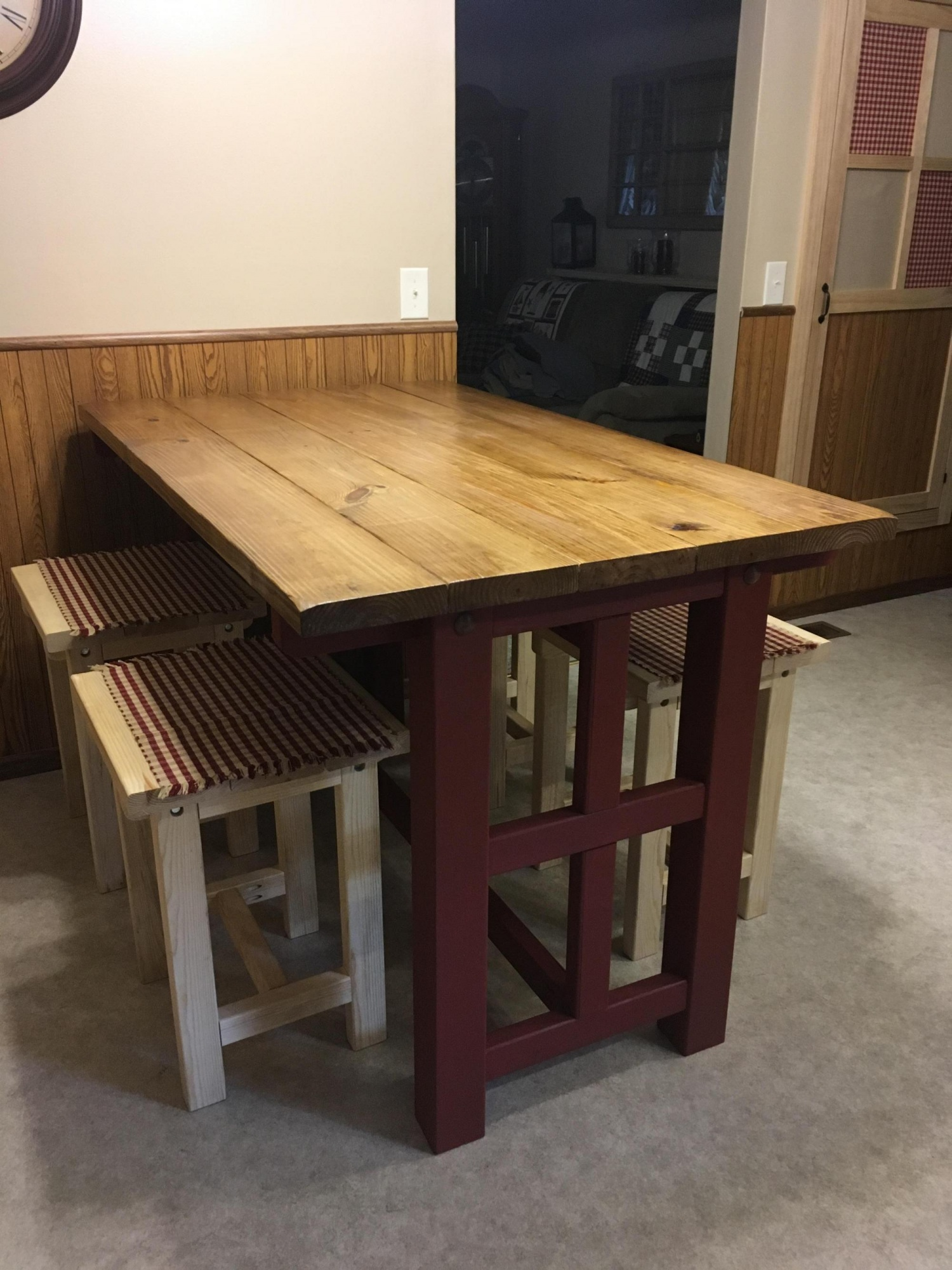 I can\'t believe I forgot to post this. Kitchen table build ...