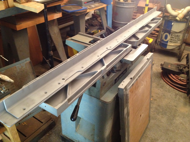 Restoration - Powermatic 66 Table Saw-back-sand-blasting-1.jpg