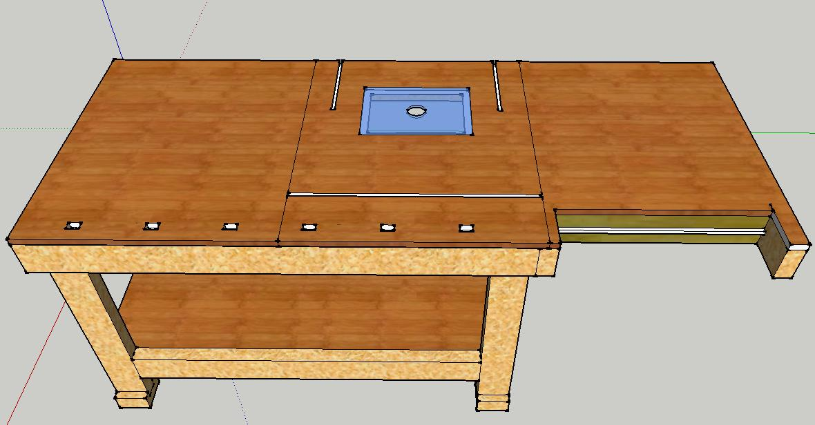 Ideas for integrating router table into bench router forums click image for larger version name bench designg views 526 size greentooth Images