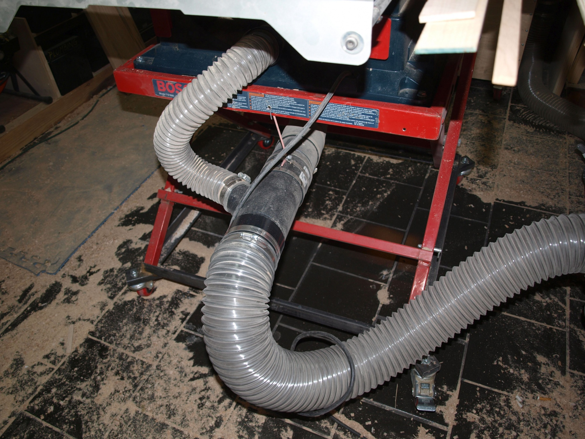 Table saw dust collection router forums click image for larger version name bosch ts dc2g views 2761 size greentooth Image collections