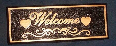 Name:  Finished Welcome Sign 4.jpg