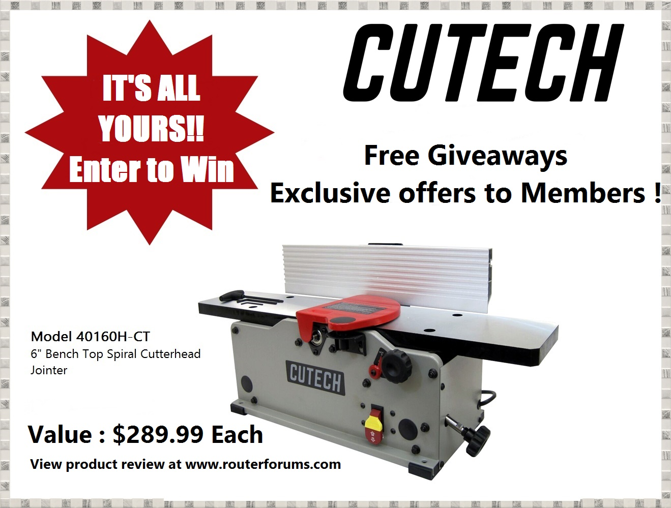 GIVEAWAY! Enter To Win New Cutech Bench Top Jointer-free-giveaway-jointer.jpg