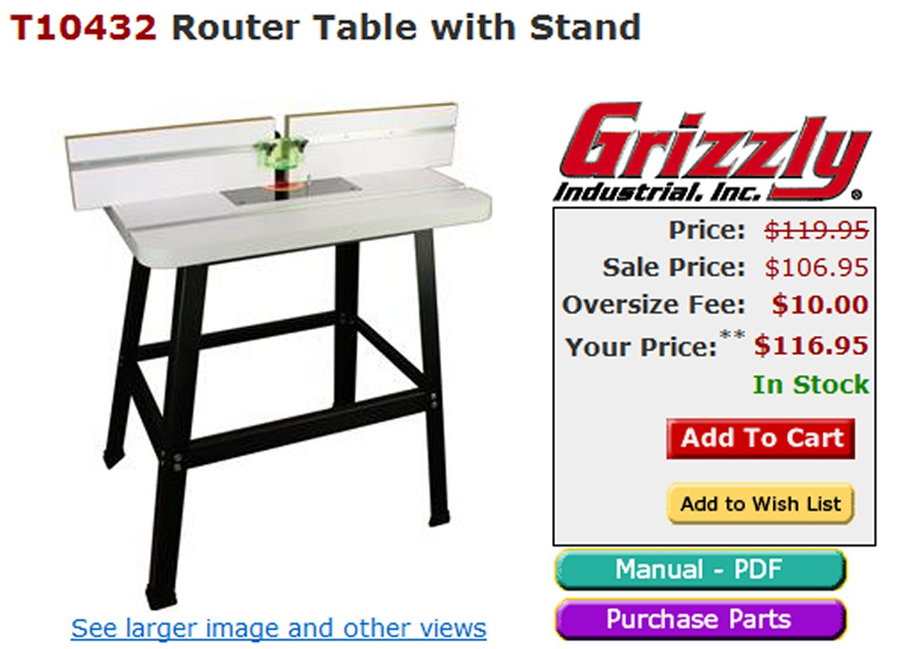 craftsman router table manual