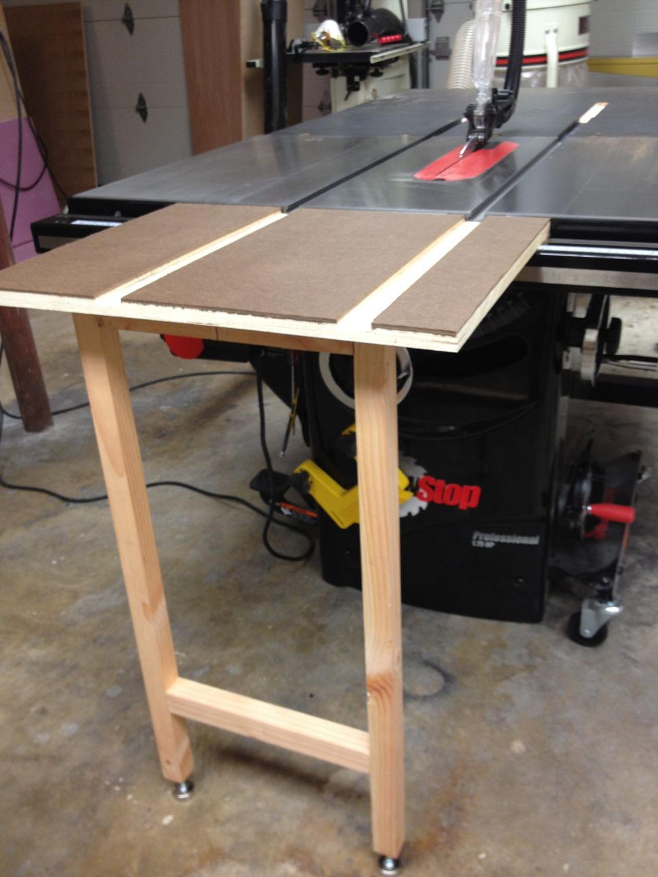 Sawstop Table Saw Infeed Removable Stowable Folding
