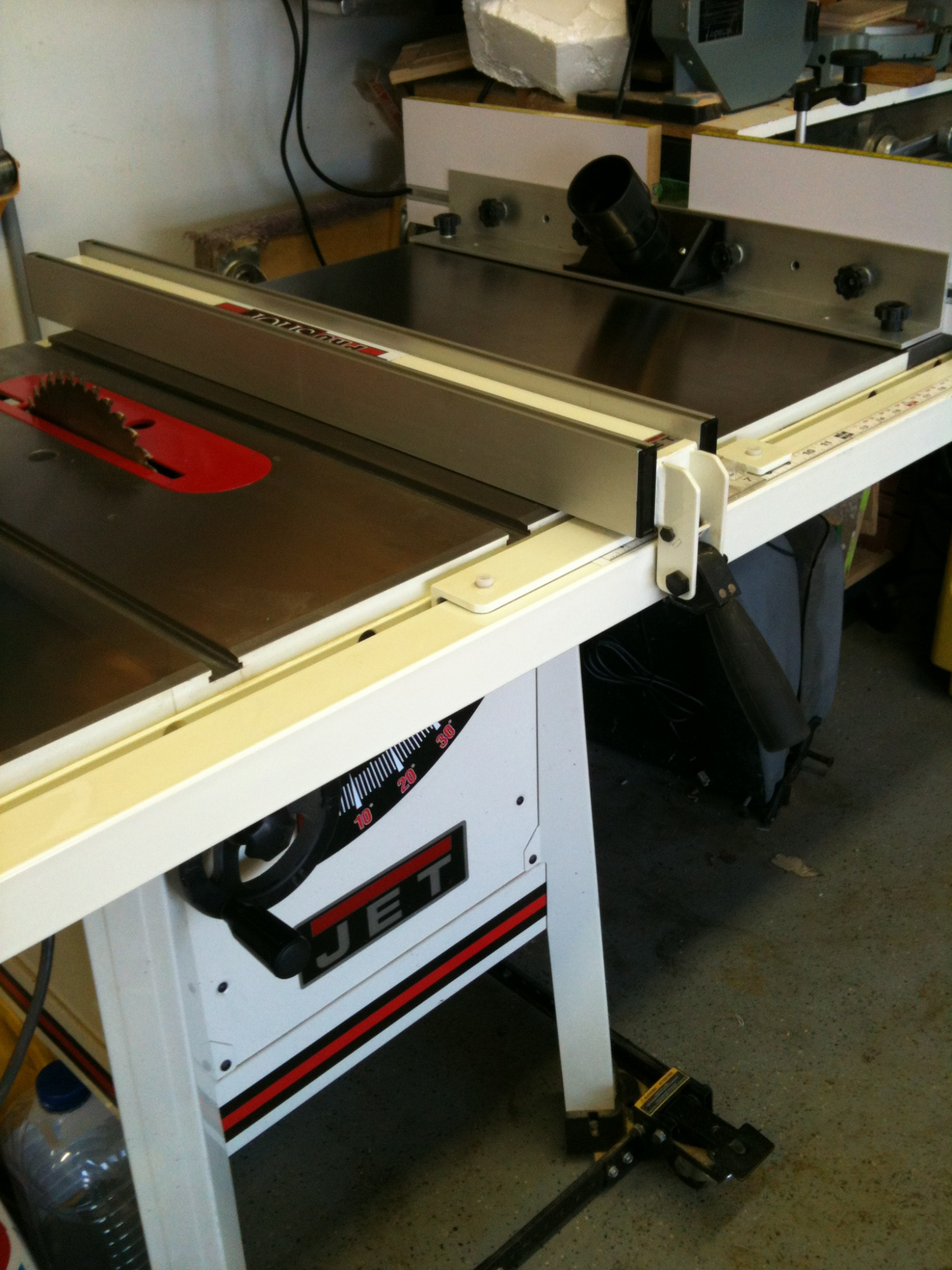 Table saw extension router table - Router Forums