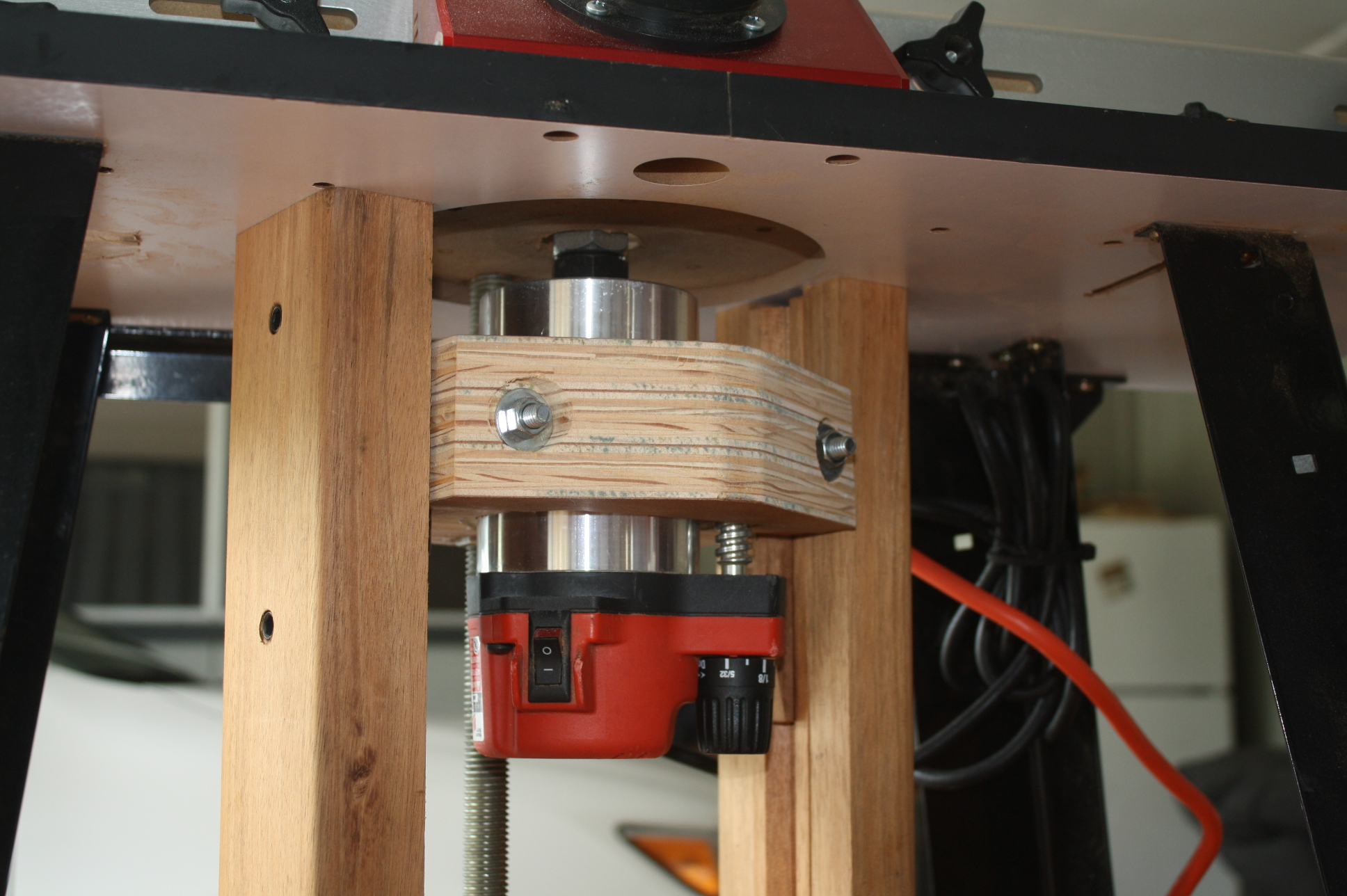 Homemade router table lift - Click Image For Larger Version Name Img_2660 Jpg Views 3329 Size 898 0