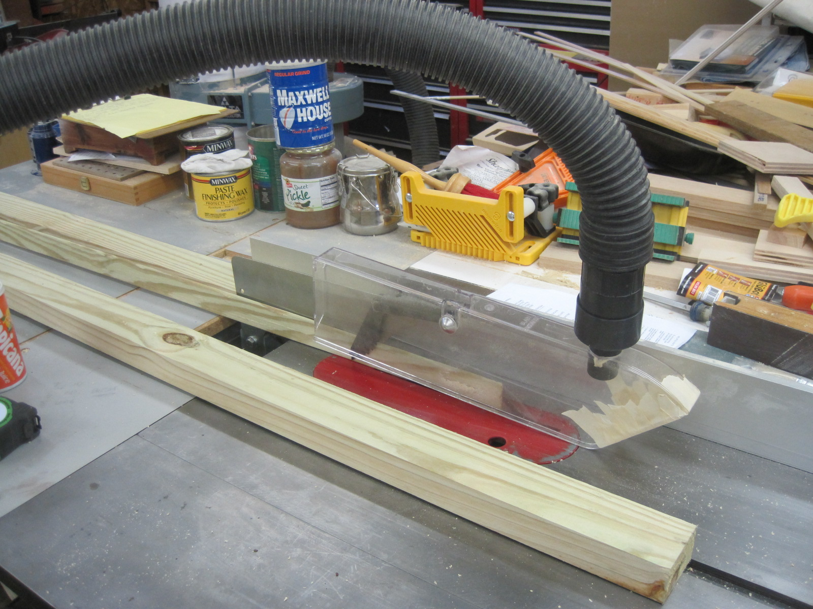 Over-The-Blade Table Saw Dust Collector Question - Router ...