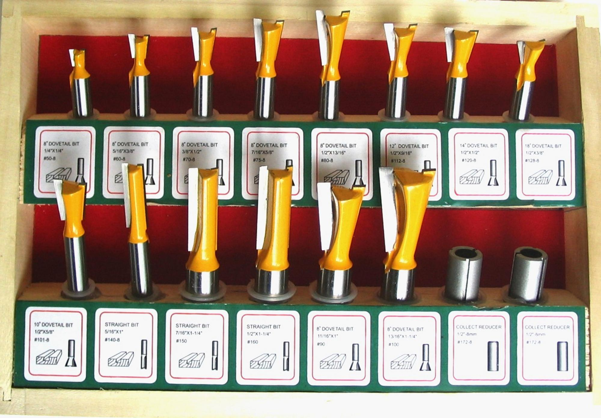 dovetail router bits. click image for larger version name: leight dovetail bits.jpg views: 1597 size. \ router bits