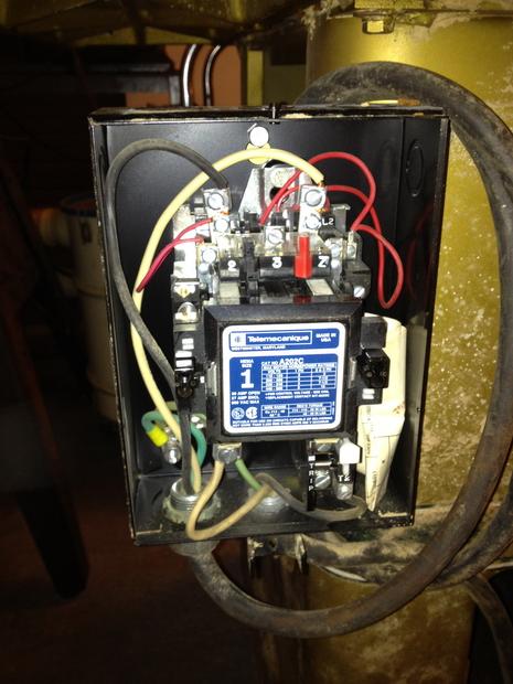 Restoration - Powermatic 66 Table Saw-magnetic-starter-very-clean.jpg