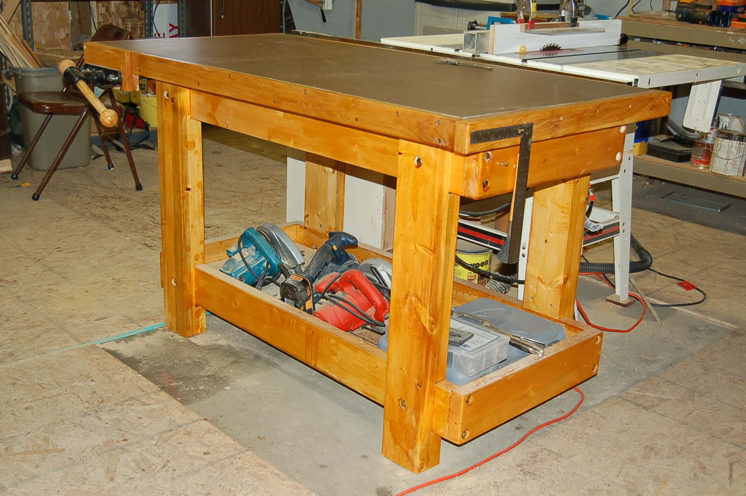 Surprising Stunning New Work Bench Router Forums Creativecarmelina Interior Chair Design Creativecarmelinacom