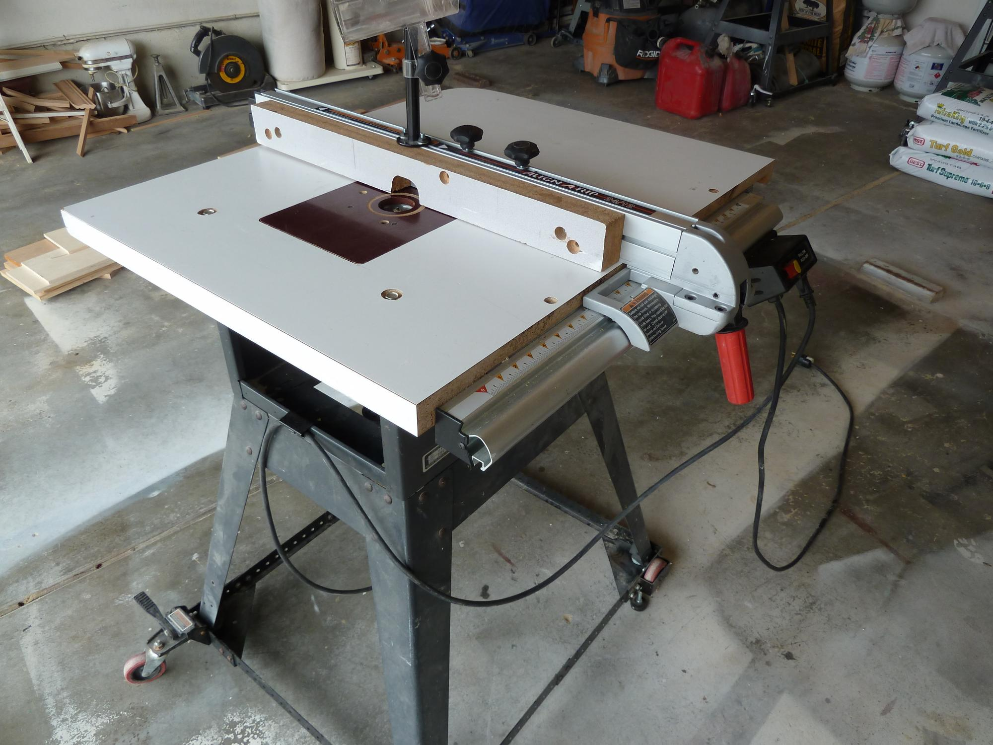 Custom Table For Makita Plunge Router Page 2 Forums