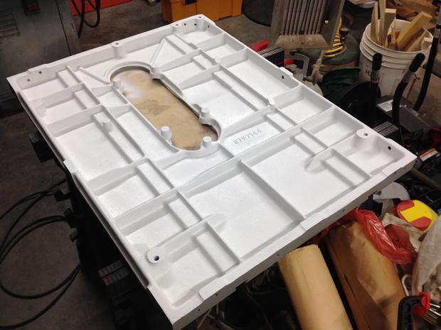 Restoration - Powermatic 66 Table Saw-painted-white-under-table.jpg