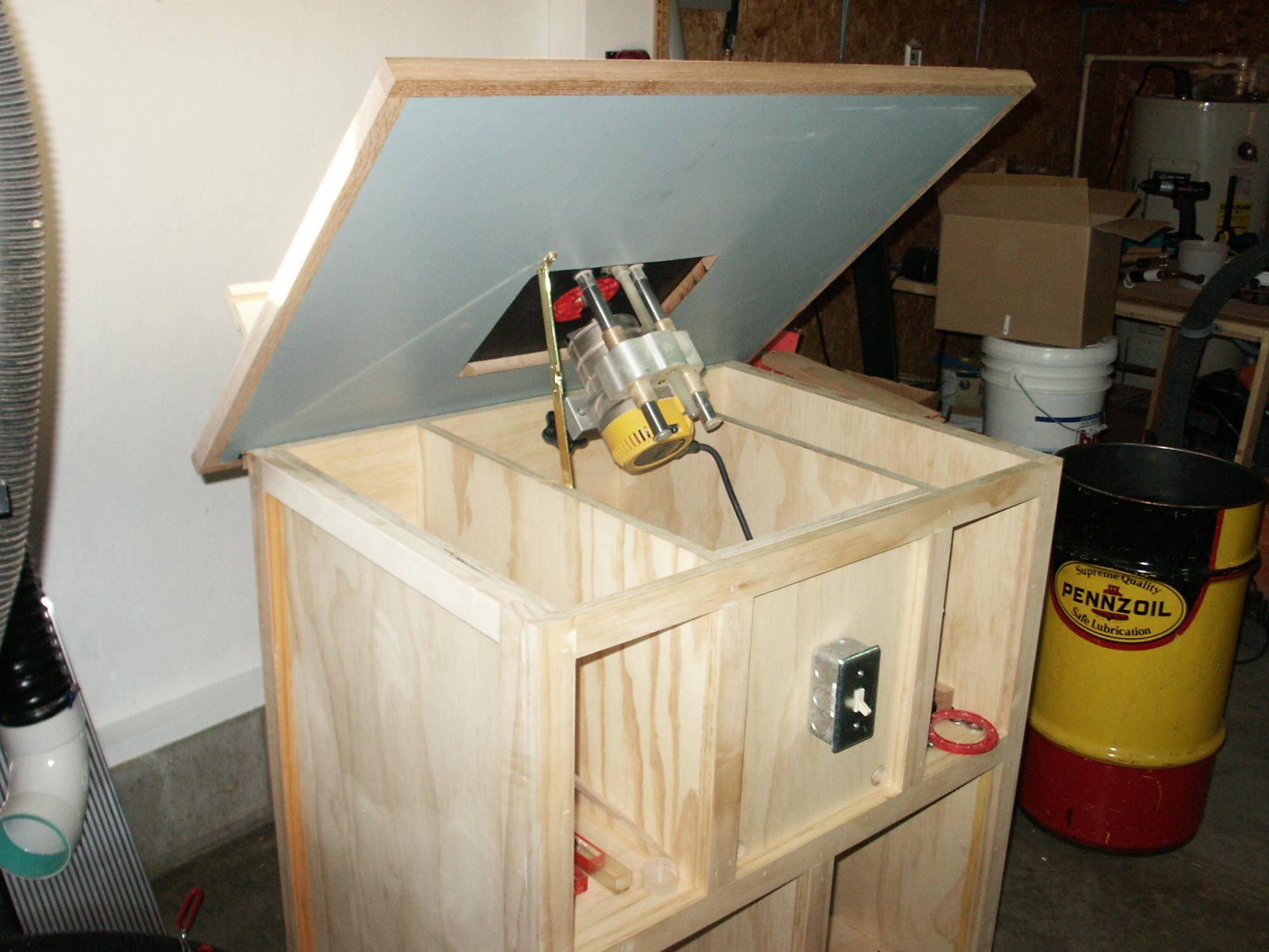 Homemade router table lift - Click Image For Larger Version Name Pict0058 Jpg Views 557 Size 253 4