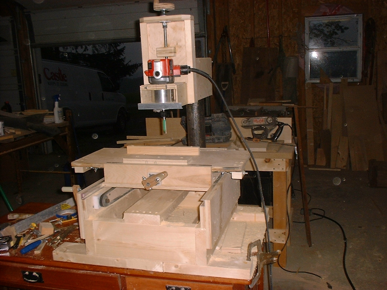 My new improved homemade router milling machine