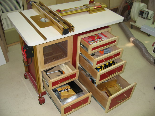 Router Table for Incra LS Positoner completed!-router-table-drawers.jpg