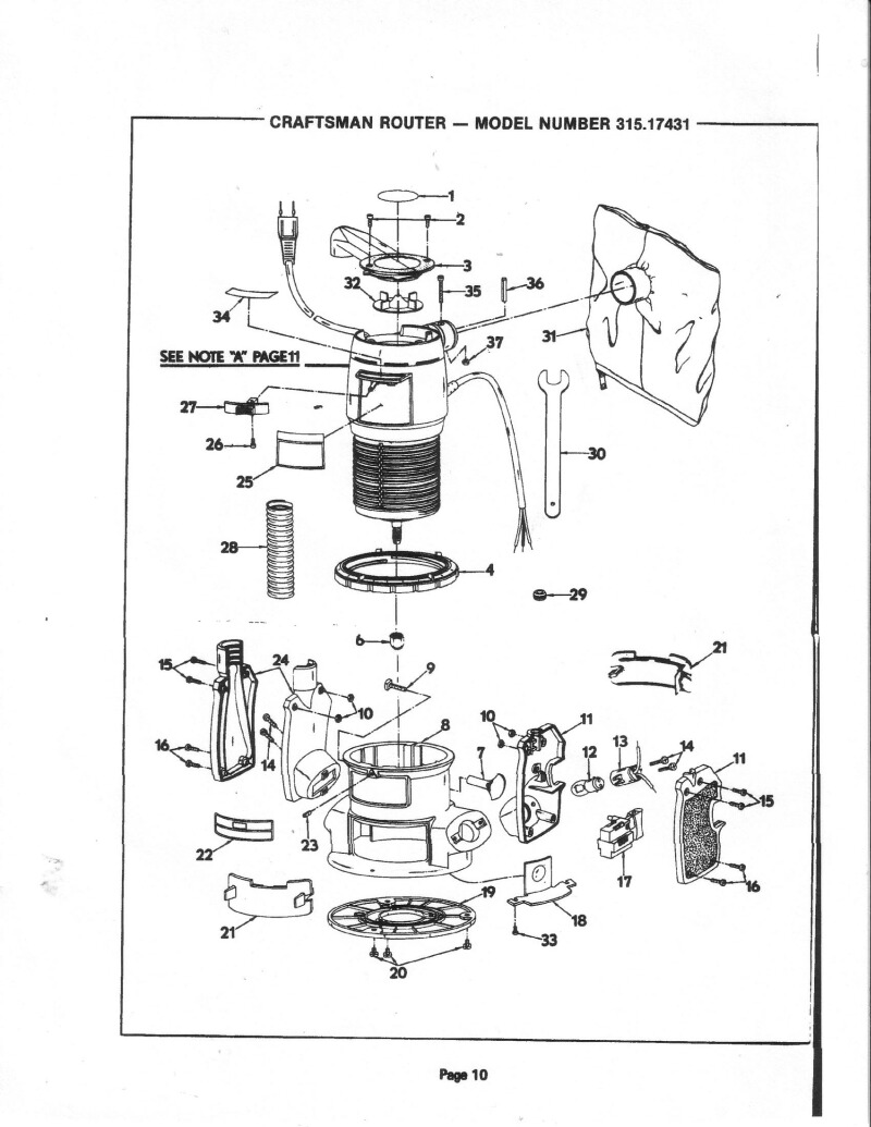 sears router manual mod 315 17431 router forums rh routerforums com Craftsman Professional Router Table Manual sears craftsman router model 315 manual