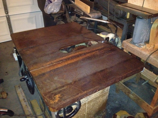 Restoration - Powermatic 66 Table Saw-saw-table-rusted.jpg