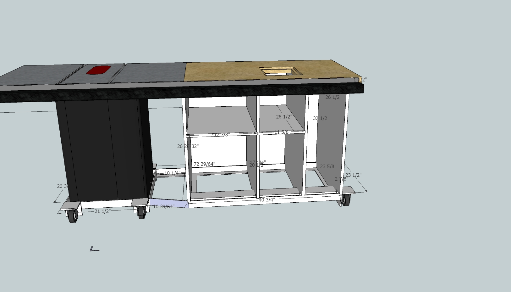 Granite router table in a sawstop need your input on plate position click image for larger version name sawstop router station bare cabinetg views keyboard keysfo Image collections