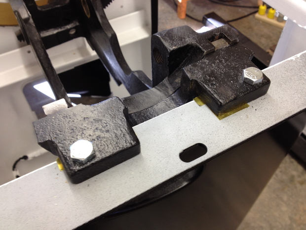 Restoration - Powermatic 66 Table Saw-shims-under-trunnion.jpg