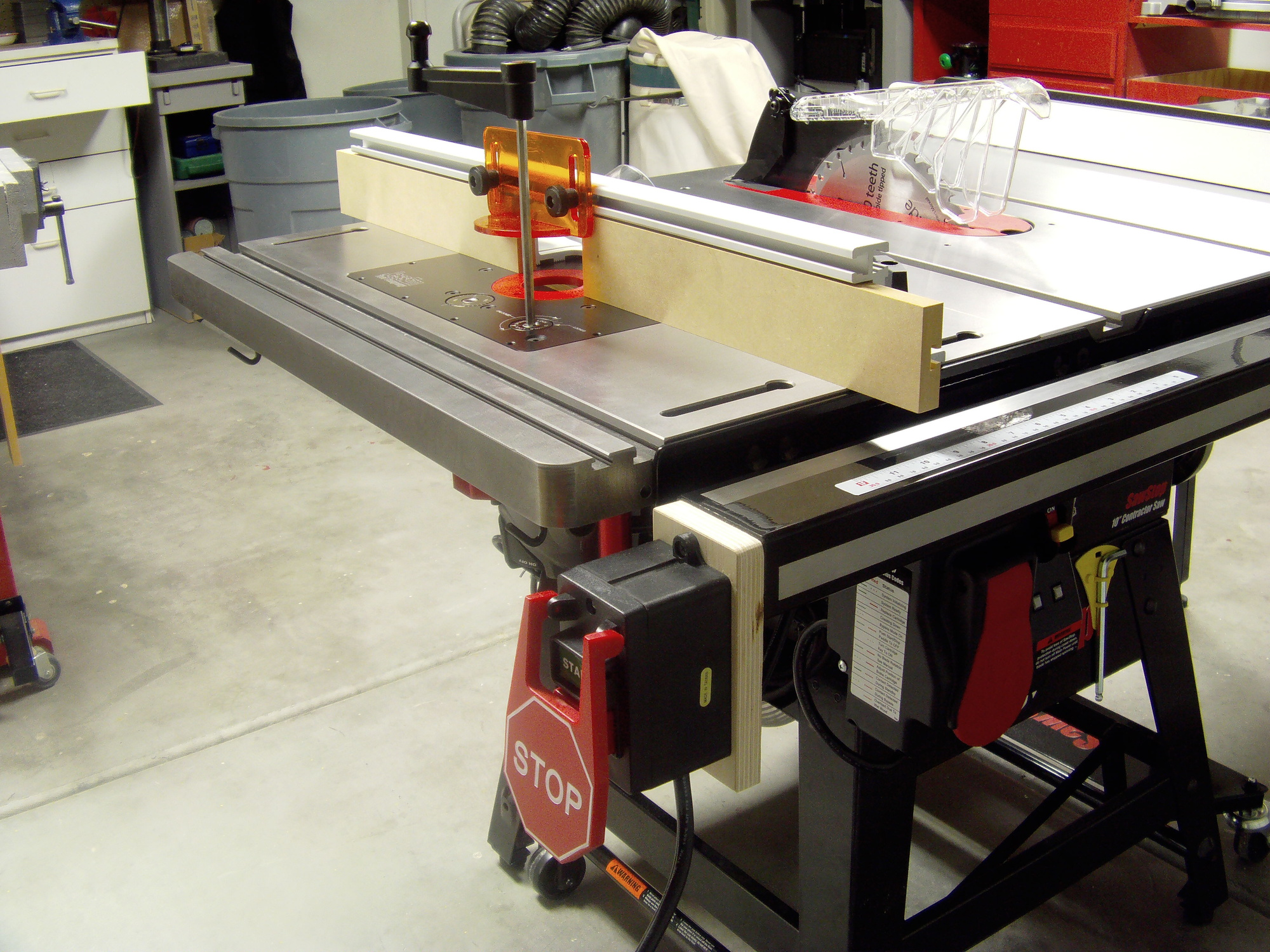 table sawstop in saw inline for router attachment saws line