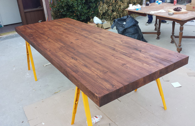 click image for larger version name  tabletop jpg views  3667 size  91 0 kitchen table top glue up help    router forums  rh   routerforums com