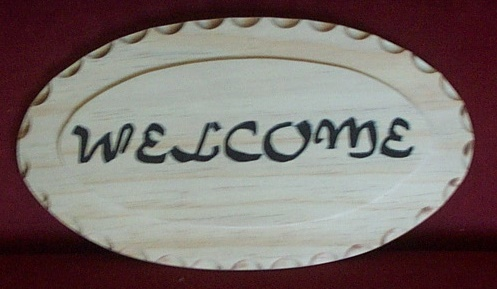 Name:  Wooden routed (Welcome) sign.jpg Views: 449 Size:  50.2 KB