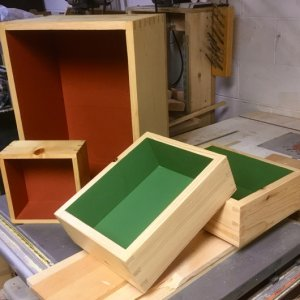Pine Dovetailed Decorator Boxes